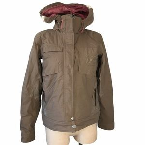 HELLY HANSEN Snowboard/Ski Jacket Brown Size Small